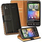 OneFlow PREMIUM - Book-Style Case im Portemonnaie Design mit Stand-Funktion - für HTC Sensation / Sensation XE - SCHWARZ