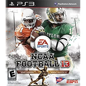 NCAA Football 13 PS3 Video Game