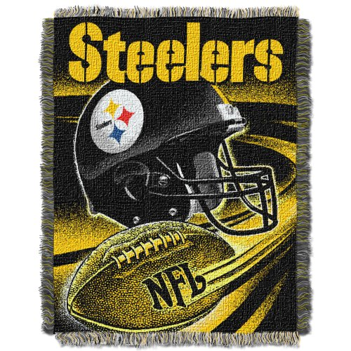 Nfl Pittsburgh Steelers 48-Inch-By-60-Inch Jacquard Acrylic Throw front-864900