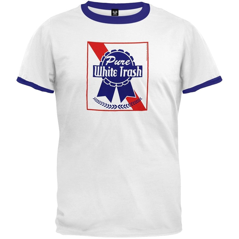 Pure White Trash Ringer T-  Pabst Blue Ribbon White Trash
