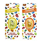 JELLY BELLY TWIN PACK CAR VENT CLIP AIR FRESHENER SCENTS - TOP BANANA + TANGERINE