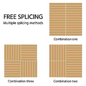 "12PCS Interlocking Wood Composite Decking Flooring Tiles Solid Wood and Plastic Corner Edging Trim Tiles Indoor Outdoor 17.5 x 17.5/"" Yaheetech Deck Patio Pavers Tiles"