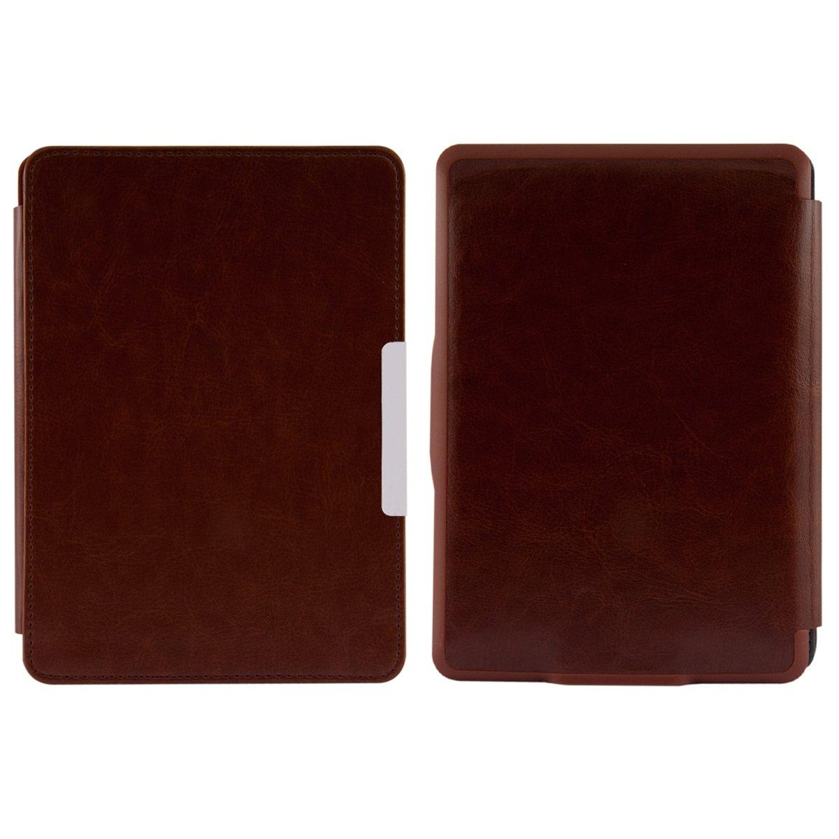 kwmobile® Elegante funda de cuero para el Amazon Kindle Paperwhite (2012 / 2013 / 2014) con un práctico cierre magnético en Marrón  Electrónica revisión y descripción más