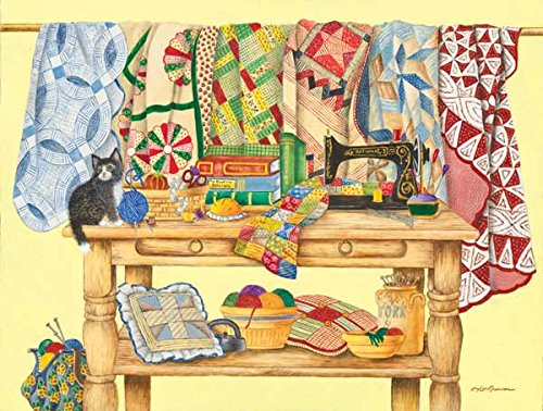 SunsOut The Quilt Table Jigsaw Puzzle (500-Piece)