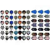 New 21 Sets (63 Pieces) of Darts 2d and Aluminium Flights Assorted Wholesale