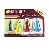 YEQIN Set of 4 Size Fabric Bias Tape Makers Set 6MM 12MM 18MM 25MM Binding Tool Sewing Quilting (Color: Style2)