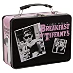 Vandor Audrey Hepburn Breakfast at Tiffany's Large Tin Tote, 7 by 9 by 3-1/2-Inch, Black, Pink and White