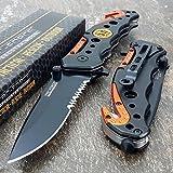 TAC-FORCE KNIVES Assisted Opening Rescue Knives BLACK ORANGE EMT Tactical Knife