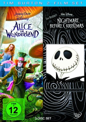 Tim Burton 2-Film-Set (3 Discs): Alice im Wunderland/Nightmare before Christmas