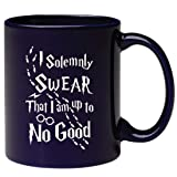 Engraved I Solemnly Swear I Am Up To No Good Coffee Mug - Permanently Etched Gifts Inspirational and Sarcasm Tea Cup for Daughter Son Coworker Friend Hubby Boyfriend Wife (Color: black25766, Tamaño: 11oz)
