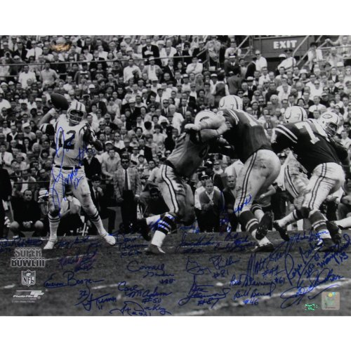 1969 NY Jets Team Signed Horizontal 16x20 Photo at Amazon.com