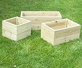 Wooden Garden Decking Planter 35CM Long 35CM DEEP 30CM High
