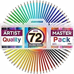 Colored Pencil Set with Case, 7-Inch, Pack of 72 by Top Quality Art Supplies