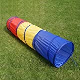 Amoin 6 foot Kids Play Tunnel Pop Up Playhouse Birthday Gift for Children