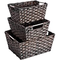 MaidMAX Wicker Woven Baskets (Set of 3 Sizes)