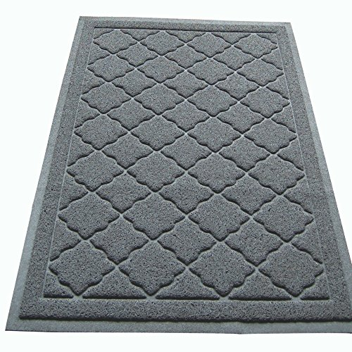 Easyology Premium Cat Litter Mat - XL Super Size - Extra Large Scatter Control Kitty Litter Mats for Cats Tracking Litter Out of Their Box - Soft to Paws- (Patent Pending) (Light gray) (Auto Cleaning Cat Liter Box compare prices)