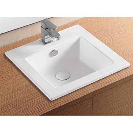 Caracalla Caracalla CA4583-One Hole-637509836054 Ceramica II Collection Bathroom Sink, White