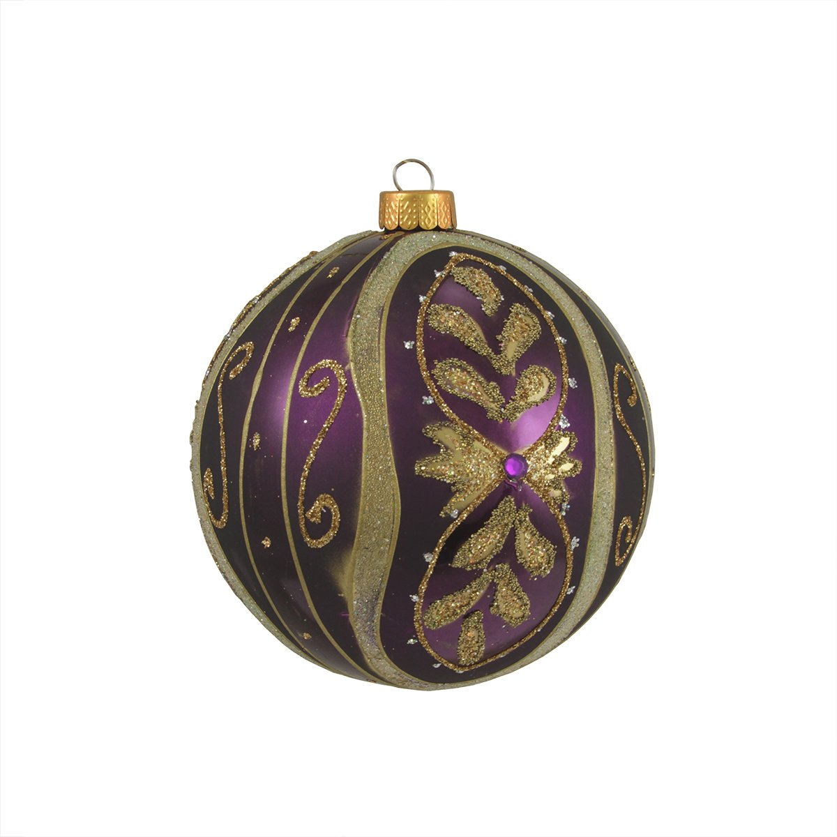 purple and gold christmas ornaments. Black Bedroom Furniture Sets. Home Design Ideas