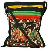 Khatri Handicrafts Women's Sling Bag (Black)