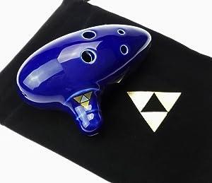 6 Hole Ocarina,Ocarina of Time Replica by Ocarinawind - Legend of Zelda Ocarina of Time Replica (Blue) (Color: Blue)