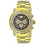Large Diamond Bezel Watch 2.5ct Luxur...