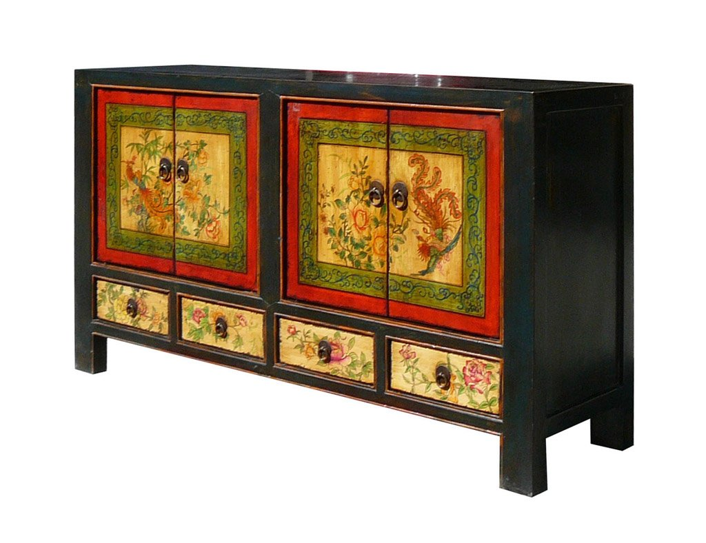 China Multi-color Graphic Cabinet Side Table Buffet Drawer Storage Amh292 3
