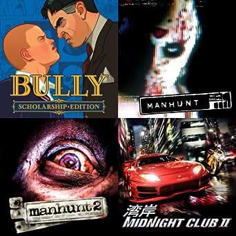 Bully + MANHUNT + MANHUNT 2 + Midnight Club 2 [Online Game Code]