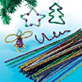 Tinsel Pipe Cleaners (Pack of 72)