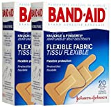 Band-Aid Flexible Fabric Adhesive Bandages, Knuckle & Fingertip-20ct