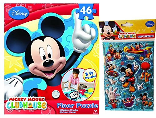 2-item-bundle-46-piece-extra-large-disney-licensed-mickey-mouse-clubhouse-foam-puzzle-activity-13-x-