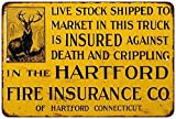 Hartford Fire Insurance Co. Vintage Look Reproduction 8x12 Metal Sign 8121229