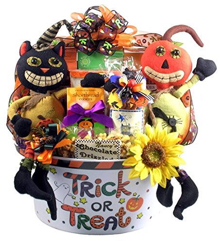 Gift Basket Village Halloween Party Pail of Treats, Large Halloween Gift, 17 Pound