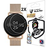 for Skagen Falster Smartwatch Screen Protector (2 Units) with Lifetime Replacement Warranty Invisible Protective Screen Guard - Smooth/Self-Healing/Bubble -Free by IPG (Color: Clear)