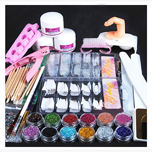 ikevan-21-in-1-combo-set-professional-diy-nail-art-decorations-kit-acrylic-powder-glitter-nail-brush