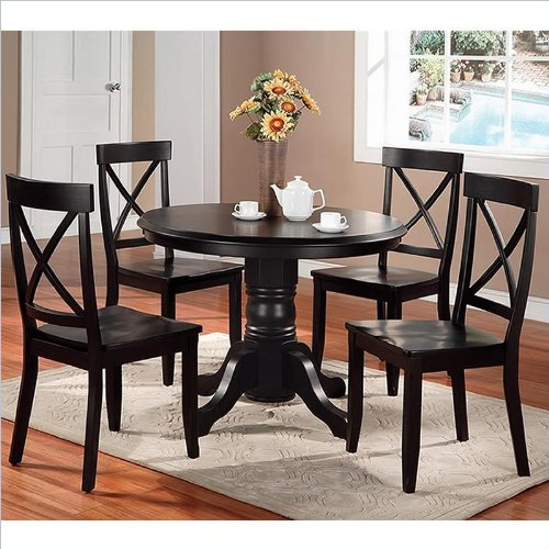 30 round pedestal dining table black finish round table dining set