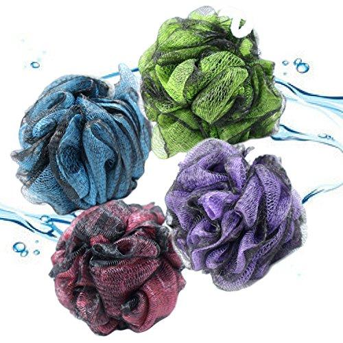 best-luxury-loofah-bath-shower-pouf-pack-large-size-with-4-mesh-sponge-scrubbers-bonus-hanging-hooks