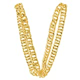 80'S Big Links Neck Chain Gold (Color: Gold, Tamaño: One Size)