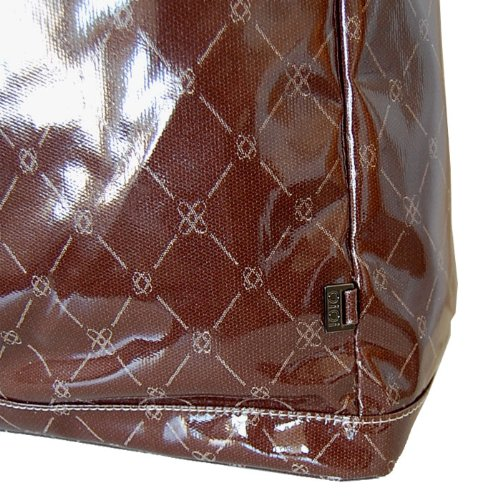 OiOi Hobo Designer Diaper Bag in Chocolate Gloss Jacquard with Taupe Nylon Lining and Accessories (japan import)