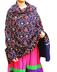 Winter Sale - Beautiful flower embroidery Cashmilon shawl for women