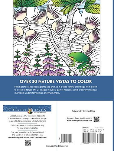 Creative Haven Nature Vistas Coloring Book (Adult Coloring)