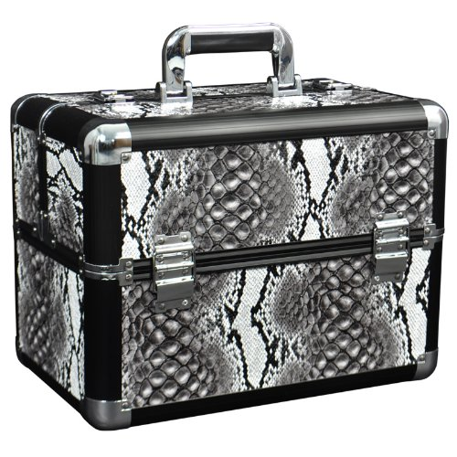 Burmese - Grey Snakeskin Beauty Case
