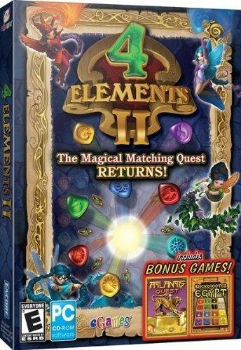 Encore Software 267604 4 Elements II with Bonus Atlantis Quest & Brickshooter Egypt - 1