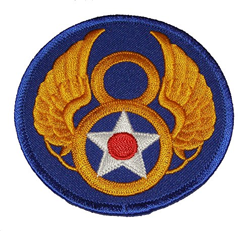 8TH AIR FORCE ROUND SHOULDER PATCH - Color - Veteran Owned Business. (8th Air Force compare prices)
