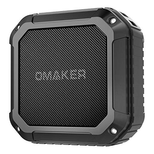 Omaker M4 防水Bluetoothスピーカー NFC対応/通話可能 小型軽量ポータブルワイヤレススピーカー (登山/ビーチ/バーベキュー/キャンプ/ハイキング/お風呂) (ブラック)