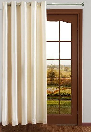 Buy Homefab India Royal Silky Cream Door Curtain(HF042) 7X4ft(1 pc ...