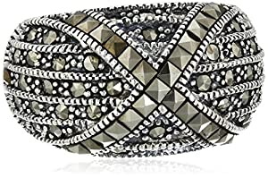 Sterling Silver Marcasite Ring, Size 6