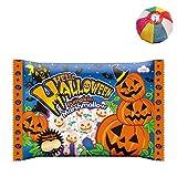 【ハロウィンお菓子】110g ハロウィンパンプキンマシュマロ(3袋) / お楽しみグッズ(紙風船)付きセット [おもちゃ&ホビー]