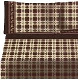 Lodge Cabin Soft Flannel Sheet Set - Brown Plaid, Moose & Bear (Twin)