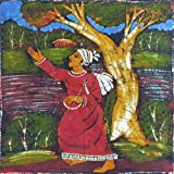"Dolls Of India ""Baul Singer"" Batik Painting On Cotton Cloth - Unframed (43.18 X 43.18 Centimeters)"