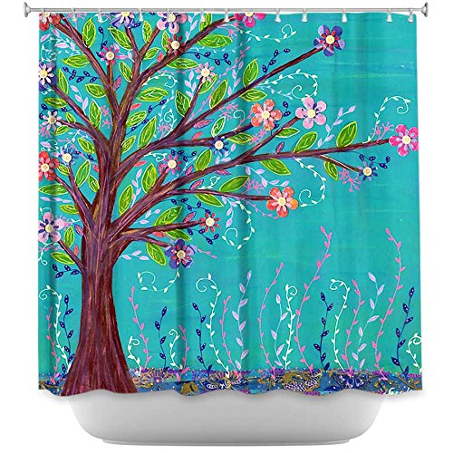 Shower Curtain Artistic Designer from DiaNoche Designs by Sascalia Unique, Cool, Fun, Funky, Stylish, Decorative Home Decor and Bathroom Ideas - Happy Tree